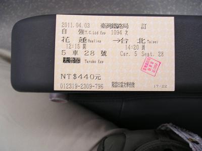 特急座席指定券